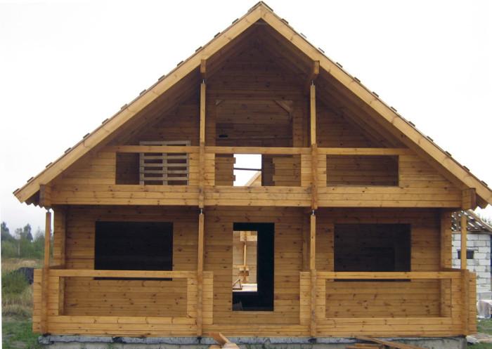 Фото: ну разве не красота - дом из профилированного бруса