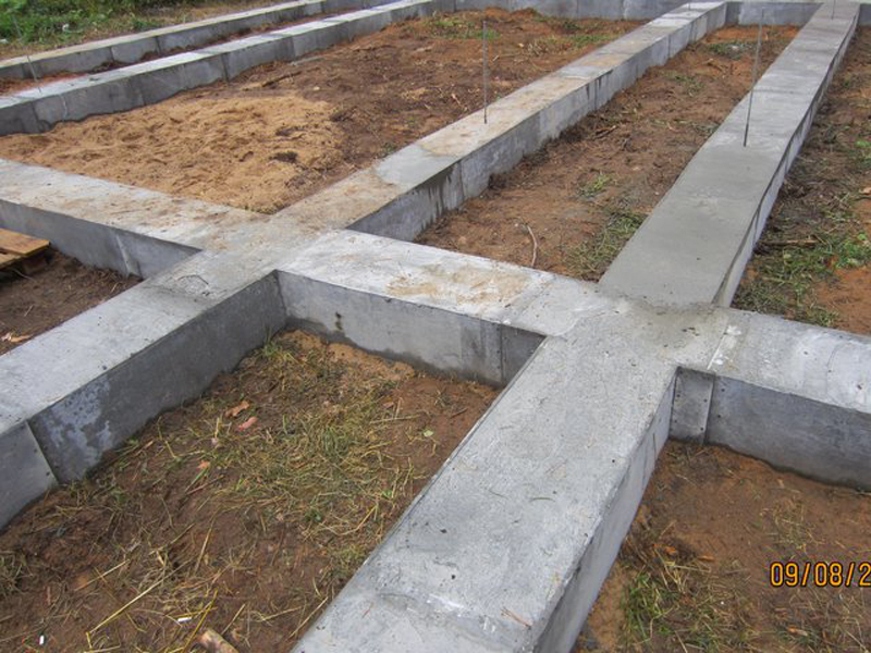 фото: фундамент для дома из бруса