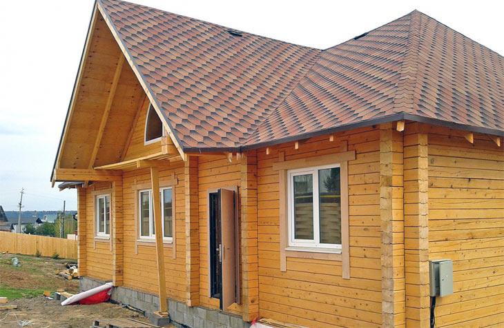 Фото: дом из профилированного бруса