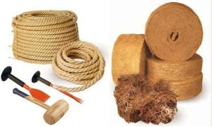 Инструменты для конопатки и межвенцевые утеплители: лен джут и пакля