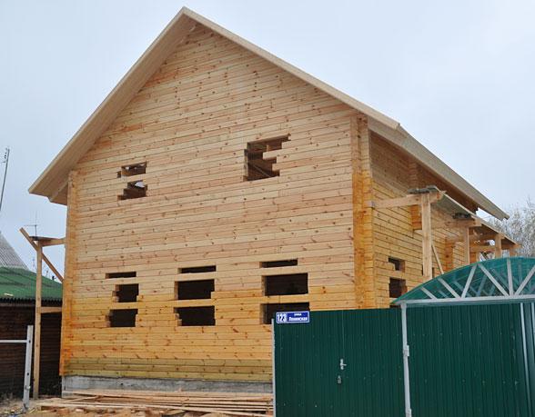 Дома из клееного бруса  строительство домов под ключ