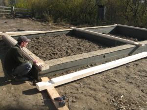 фото: фундамент для бани двойной брус