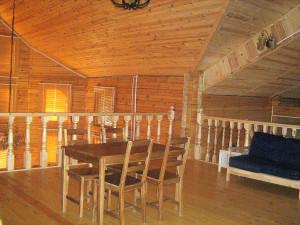 Фото: интерьер дома сделанный из сосновых пиломатериалов