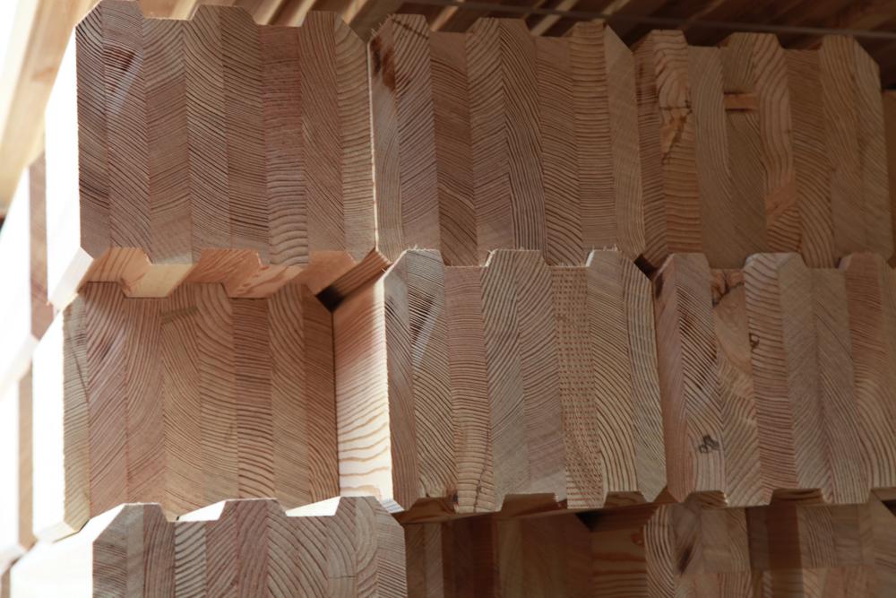 фото: клееный брус из кедра