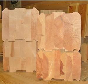 фото: клееный брус лиственница