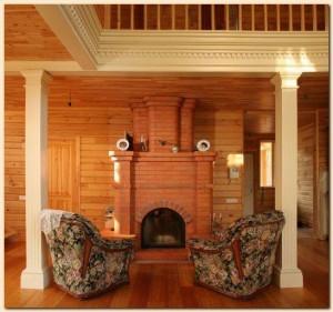 Фото: элементы интерьера из лиственичного бруса