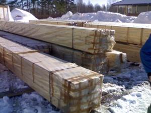 фото: профилированный брус как строитльный материал