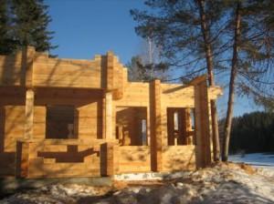 фото: строительство домов из лиственницы