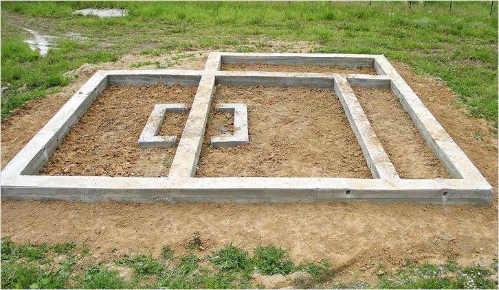 фото: как расчитать ленточнвй фундамент
