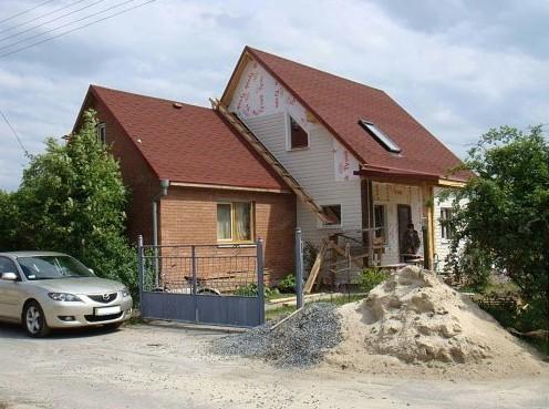 Пристроить крышу к дому фото