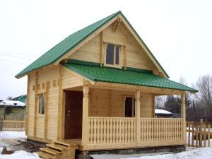 фото: дом двойной брус под ключ