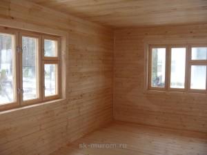 Фото: дом построенный по технологии двойной брус вид изнутри