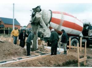 фото: заливка бетона