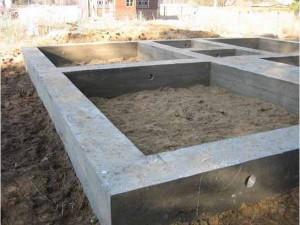 фото: площадь ленточного фундамента