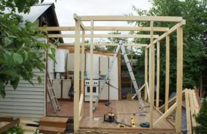 фото: строительство каркасного пристроя