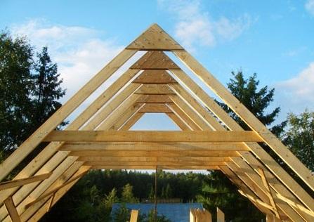 фото: Стропила двухскатной крыши