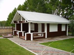 фото: Внешнее покрытие дома из профилированного бруса