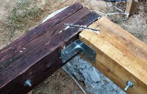 фото: пример соединения бруса встык