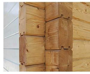 фото: стена из профилированного бруса