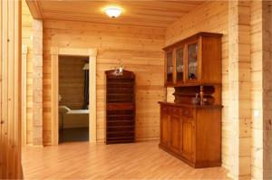 фото: Отделка комнат из клееного бруса