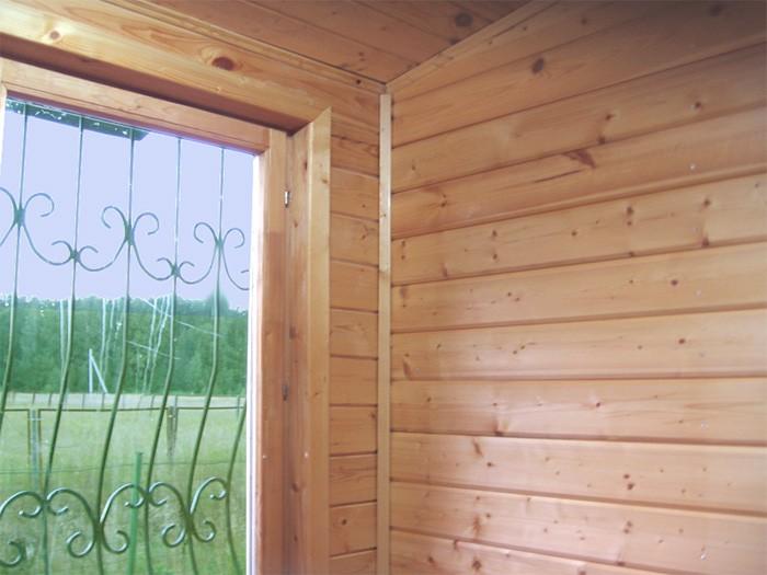 фото: отделка дома внутри имитацией бруса