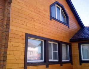 фото: дом отделанный имитацией бруса