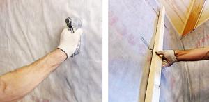 фото: монтаж гидроизоляции на стену