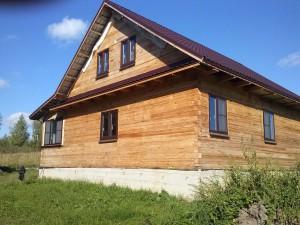 фото: дачный дом из бруса 8х9