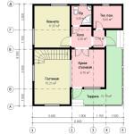 фото: проект первого этажа дома 8х9
