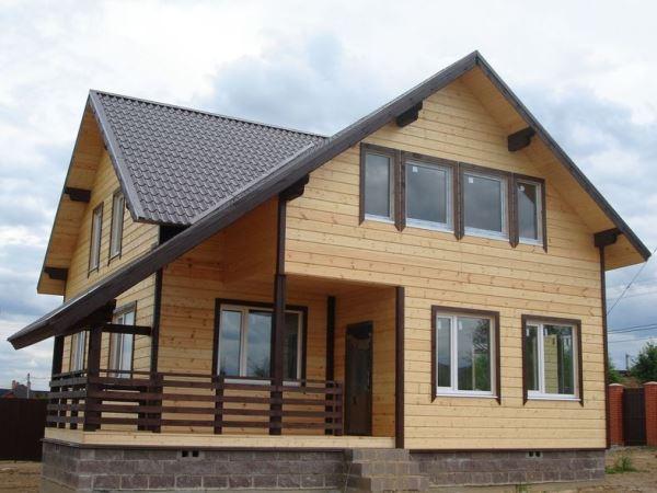 фото:проекты деревянных домов из бруса 8х9