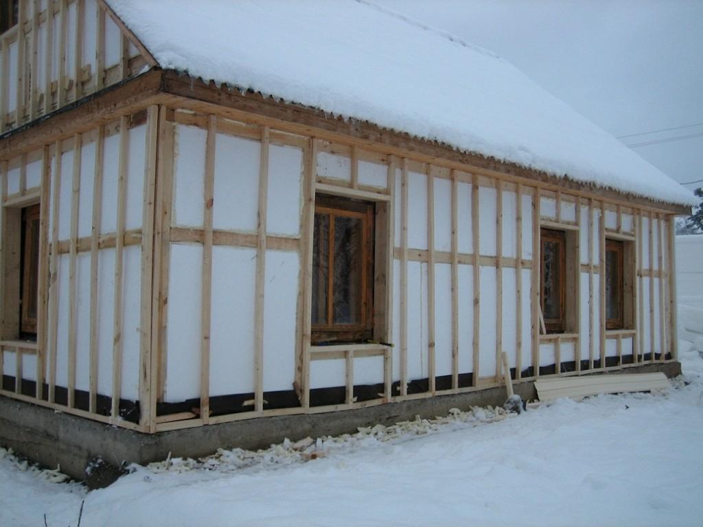 Каркасный дом своими руками Обшивка стен и утепление