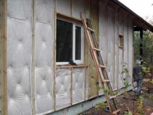 фото: утепление фасада деревянного дома