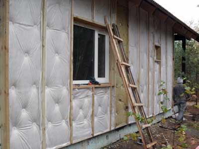 Утепление брусового дома снаружи минватой своими руками 131