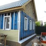 Фото: Утепление деревянного дома снаружи под сайдинг