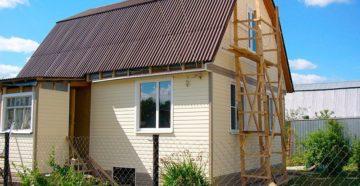дачный домик с крышей ондулин